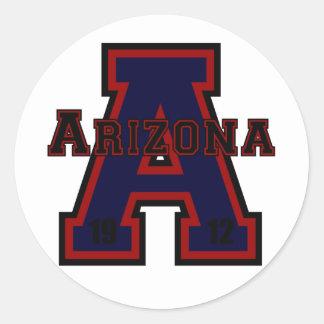アリゾナ「A」の青 ラウンドシール