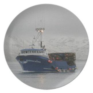 アリューシャンの船員、オランダHarboのカニの漁船 プレート