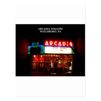 アルカディアの劇場- WELLSBORO、ペンシルバニア ポストカード
