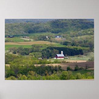 アルカディアの南の農地の景色の眺め、 ポスター