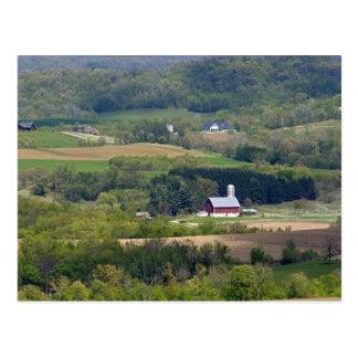 アルカディアの南の農地の景色の眺め、 ポストカード