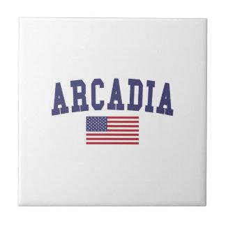 アルカディア米国の旗 タイル
