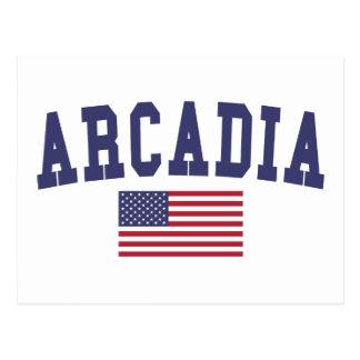 アルカディア米国の旗 ポストカード