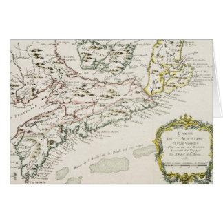 アルカディア(1757年)のヴィンテージの地図 カード