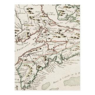 アルカディア(1757年)のヴィンテージの地図 ポストカード
