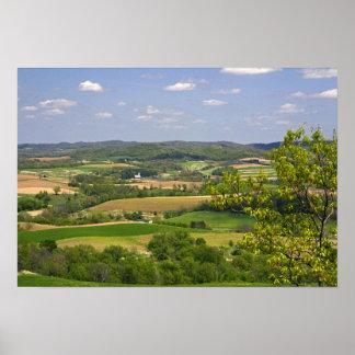 アルカディア、2の南の農地の景色の眺め ポスター