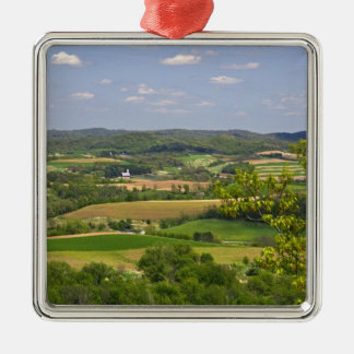 アルカディア、2の南の農地の景色の眺め メタルオーナメント