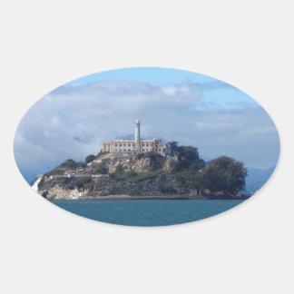 アルカトラズ島 楕円形シール