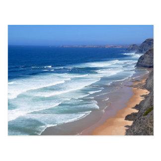 アルガルヴェ地方のビーチ、ポルトガル ポストカード