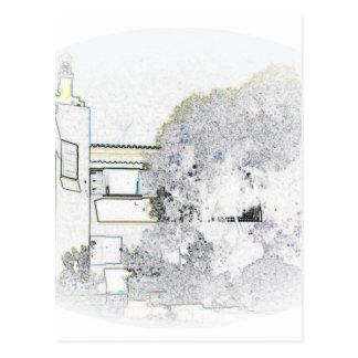 アルガルヴェ地方の別荘のデジタルスケッチ ポストカード