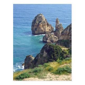 アルガルヴェ地方の海岸 ポストカード