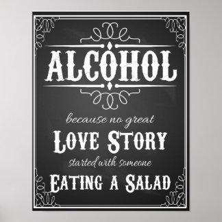 アルコールので素晴らしいラブストーリーのプリント無し ポスター