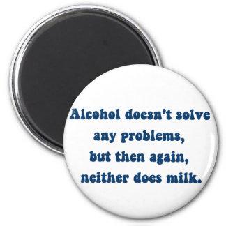 アルコールは問題、ミルクを解決しませんか。 マグネット