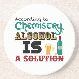 アルコールは解決です コースター