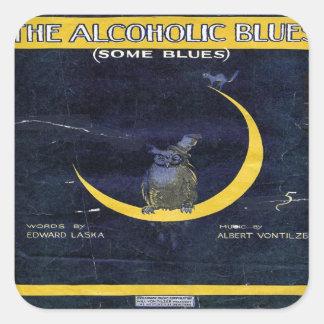 アルコール性の青 スクエアシール