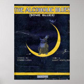 アルコール性の青 ポスター
