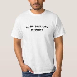 アルコール承諾のスーパーバイザー Tシャツ