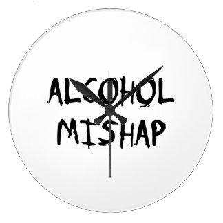 アルコール災難 ラージ壁時計