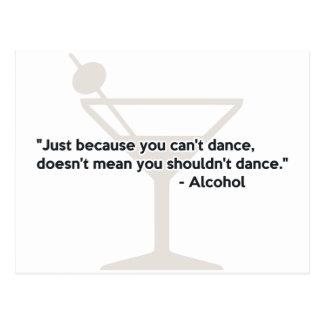 アルコール自信の踊り ポストカード