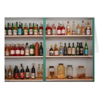 アルコール飲料のボトル カード