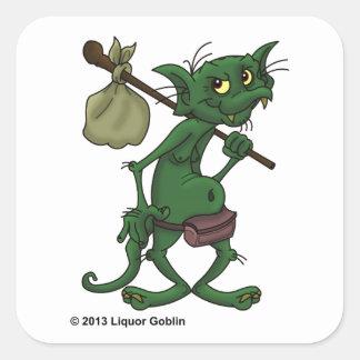 アルコール飲料の小悪魔のステッカー スクエアシール