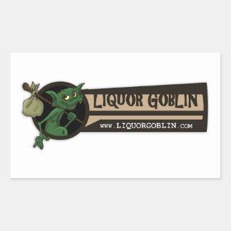 アルコール飲料の小悪魔のロゴのステッカー 長方形シール