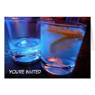 アルコール飲料ガラスのパーティーの招待 カード