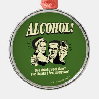 アルコール: 爽快な1杯の飲み物I メタルオーナメント