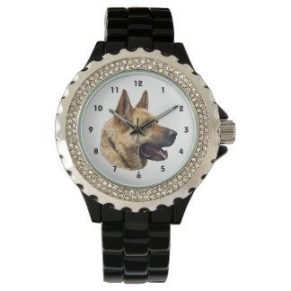 アルザスのジャーマン・シェパードのポートレート 腕時計