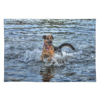 アルザスのジャーマン・シェパードの犬恋人のギフト ランチョンマット