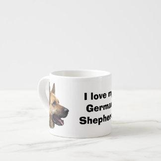 アルザスのジャーマン・シェパード犬のポートレート エスプレッソカップ