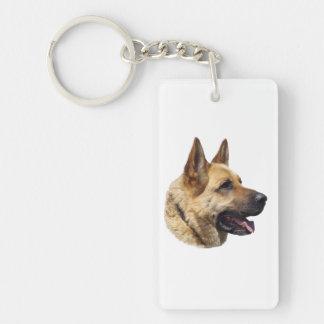 アルザスのジャーマン・シェパード犬のポートレート キーホルダー