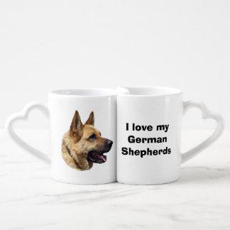 アルザスのジャーマン・シェパード犬のポートレート ペアカップ