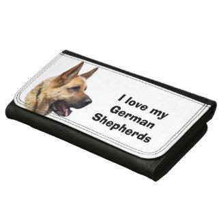 アルザスのジャーマン・シェパード犬のポートレート レザーウォレット