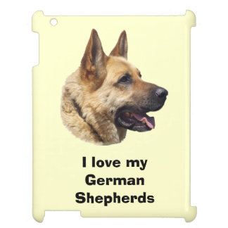 アルザスのジャーマン・シェパード犬のポートレート iPadケース