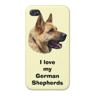 アルザスのジャーマン・シェパード犬のポートレート iPhone 4 CASE