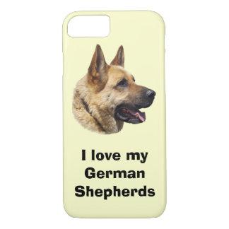 アルザスのジャーマン・シェパード犬のポートレート iPhone 8/7ケース
