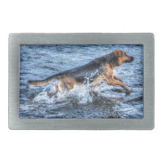 アルザスのジャーマン・シェパード5の犬恋人のギフト 長方形ベルトバックル
