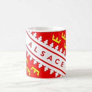 アルザスの地域のフランスの国旗の文字の名前 コーヒーマグカップ