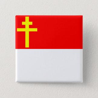 アルザスロレーヌ、フランスのの共和国旗 5.1CM 正方形バッジ