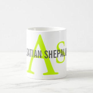 アルザス人のShepaluteの品種モノグラム コーヒーマグカップ