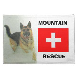 アルザス人、山の救助隊 ランチョンマット