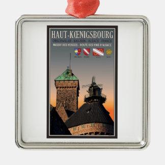 アルザス- Haut Koenigsbourg メタルオーナメント