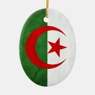 アルジェリアのグランジな国旗 セラミックオーナメント