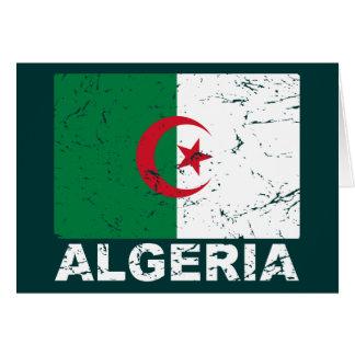 アルジェリアのヴィンテージの旗 カード