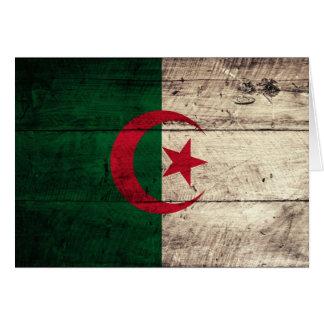 アルジェリアの古い木の旗 カード