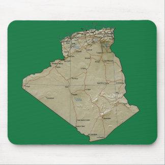アルジェリアの地図のマウスパッド マウスパッド