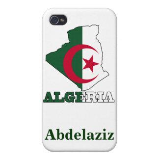 アルジェリアの地図の旗 iPhone 4 カバー