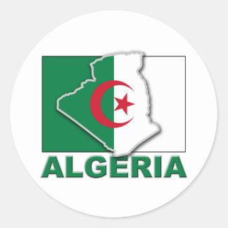 アルジェリアの旗の土地 ラウンドシール