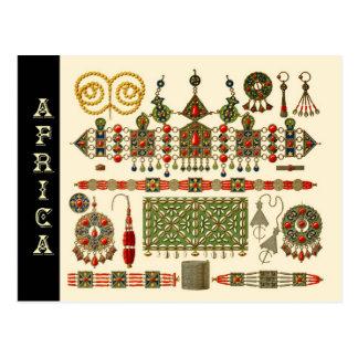 アルジェリアのKabyleの人々のジュエリー ポストカード